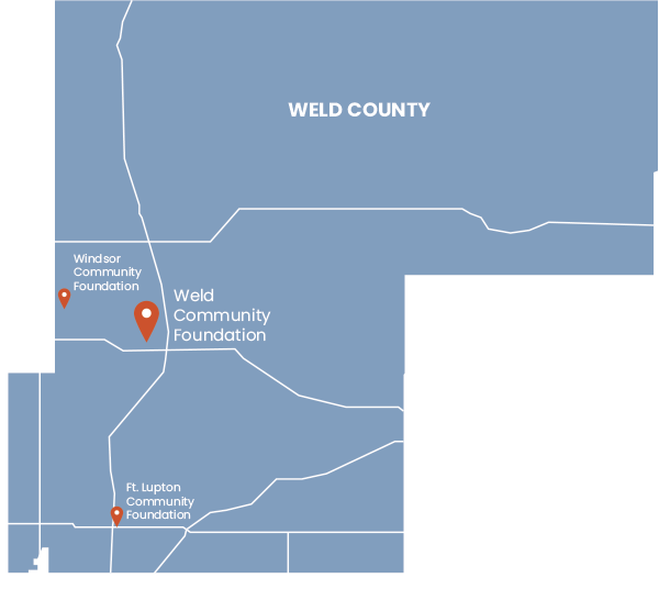 Map of Weld County