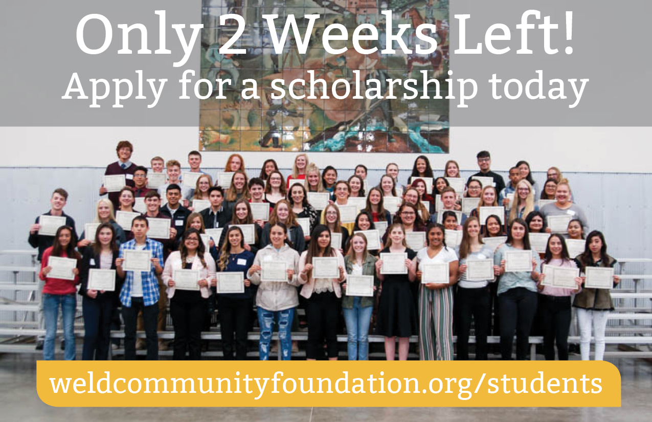 Deadline for Scholarship Applications is February 13th